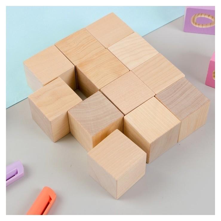 Кубики неокрашенные 12 шт.  Pelsi