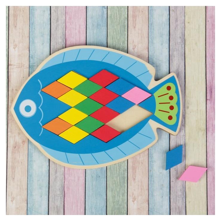 Мозаика-головоломка Рыбка, ромб: 4×2,2 см  Лесная мастерская