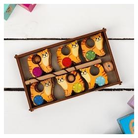 Игра Поймай-ка - Котики  Деревянные игрушки Динни