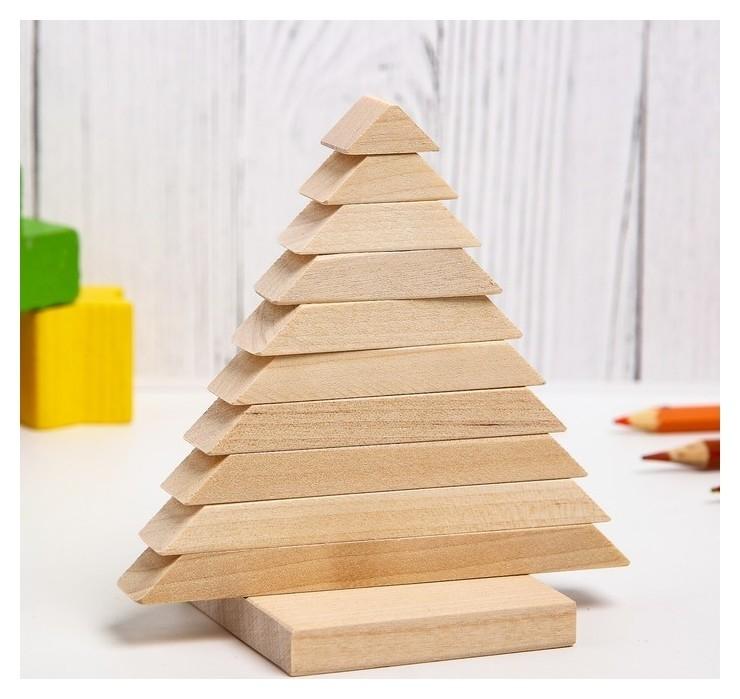 Пирамидка Ёлочка, материал: берёза  Pelsi