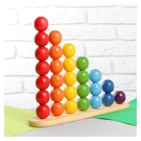 Пирамидка Абака радуга с шариками 3,2 см  RNToys