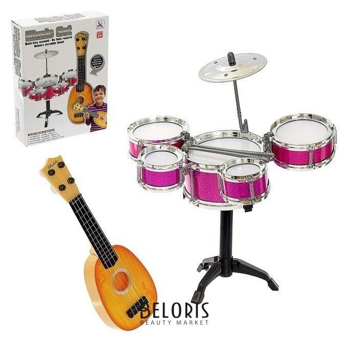 Барабанная установка «Крутой музыкант», с гитарой, микс КНР Игрушки
