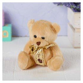 Мягкая игрушка «Мишка с бантом», с сердечками