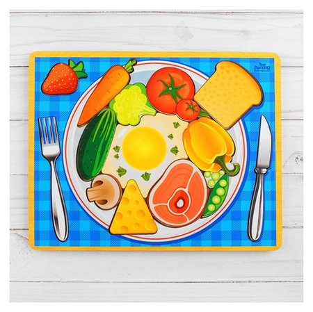 Головоломка логическая Завтрак, 20х25 см  Лесная мастерская