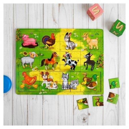 Логическая игрушка с разрезными картинками Ферма   Лесная мастерская