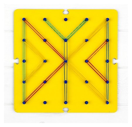 Геоборд Ассорти 19 × 19 см  Woodlandtoys