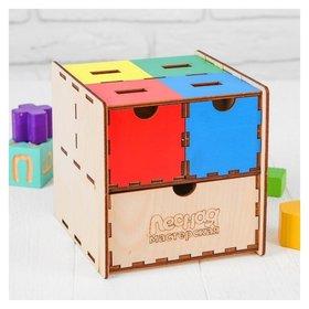 Комодик-сортер развивающий Умный куб