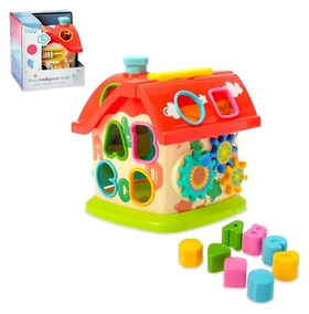 Развивающая игрушка Домик с сортером и подвижными элементами