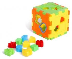 Развивающая игрушка-сортер Куб со счётами