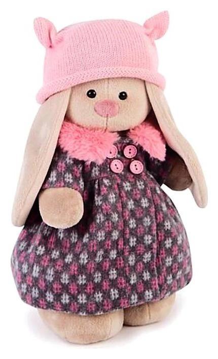 Мягкая игрушка «Зайка Ми» в пальто и розовой шапке  Зайка Ми