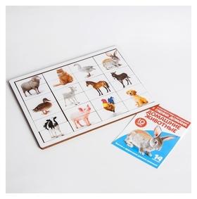 Головоломка Рамка-вкладыш с Доманом Домашние животные