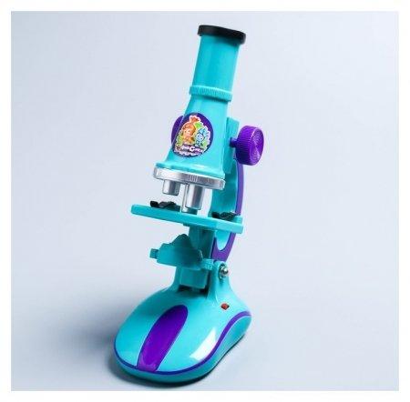 Микроскоп с набором для исследований, свет  Фиксики