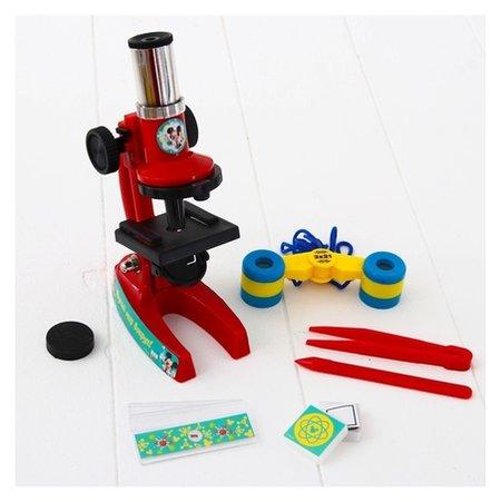 """Микроскоп """"Микки Маус и друзья"""" с биноклем и пинцетами  Disney"""