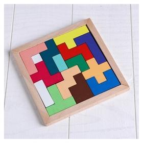 Деревянная игрушка Головоломка 15 деталей 14,5×14см