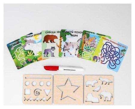 Многоразовые карточки Пиши-стирай Путешествие с животными  Лесная мастерская