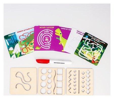 Многоразовые карточки Пиши-стирай Динозавры  Лесная мастерская