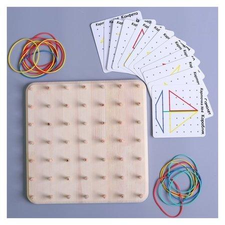 Геоборд со схемами 12 двусторонних карточек  Smile Decor