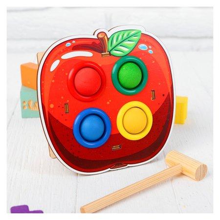 Стучалка-сортер «яблоко» с молотком  Woodlandtoys