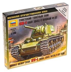 Сборная модель «Советский танк КВ-1 с пушкой Ф32»  Звезда