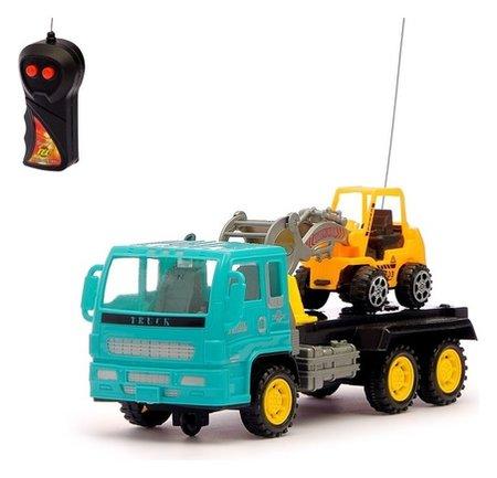 Грузовик радиоуправляемый «Эвакуатор» с погрузчиком, работает от батареек  Автоград