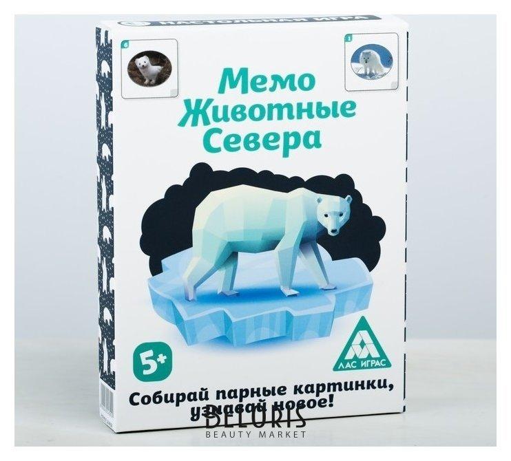Настольная игра «Мемо. Животные Севера», 50 карточек Лас Играс