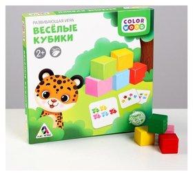 Развивающая игра с деревянными вложениями «Весёлые кубики»