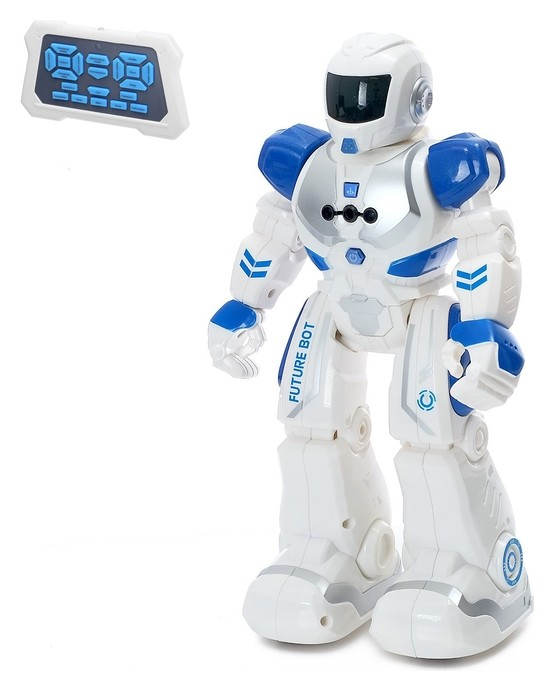 Робот радиоуправляемый «Смарт бот», ходит, световые и звуковые эффекты, русская озвучка, цвет синий  Zhorya