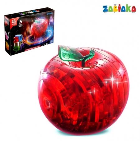 Пазл 3D кристаллический «Яблоко», 45 деталей  Zabiaka