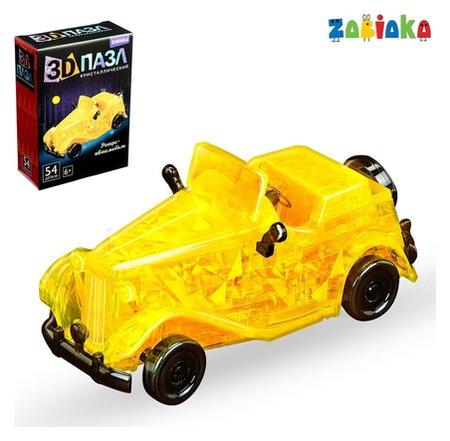 Пазл 3D кристаллический «Ретро машина», 54 детали  Zabiaka
