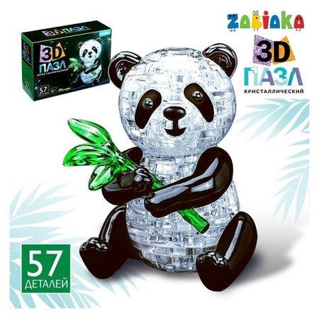 Пазл 3D «Панда», 57 деталей  Zabiaka