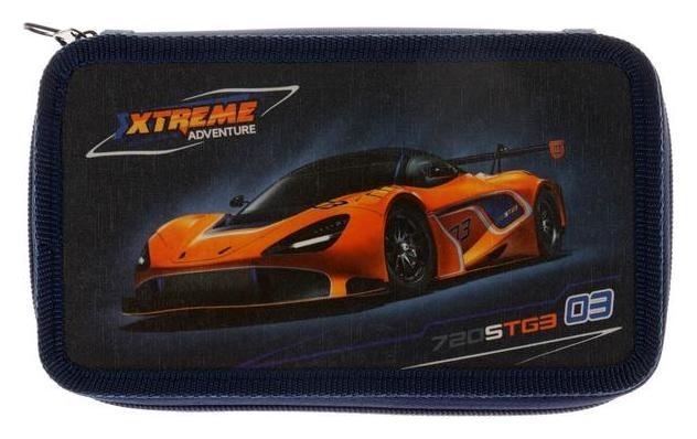 Пенал 2 секции Auto orange  Оникс