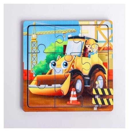 Пазл «Трактор», 9 деталей  Лесная мастерская