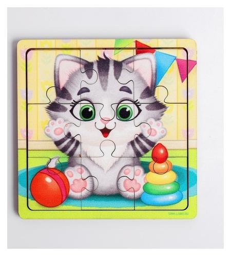 Пазл «Котёнок», 9 деталей  Лесная мастерская