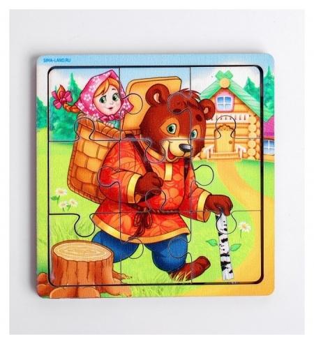 Пазл «Маша и медведь», 9 деталей  Лесная мастерская