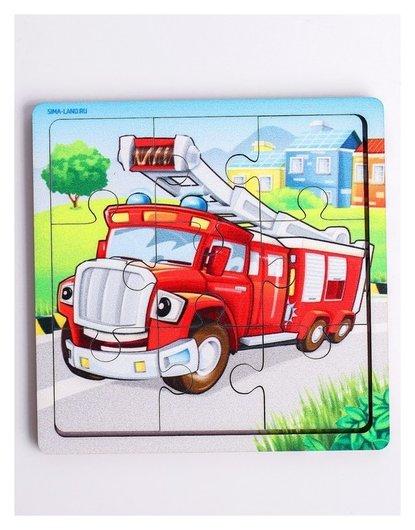 Пазл «Пожарная машина», 9 деталей  Лесная мастерская