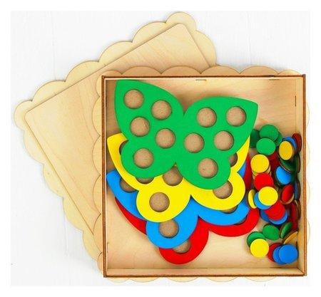 Мозаика Бабочки 4 бабочки, 40 кружков d= 2 см  Smile Decor