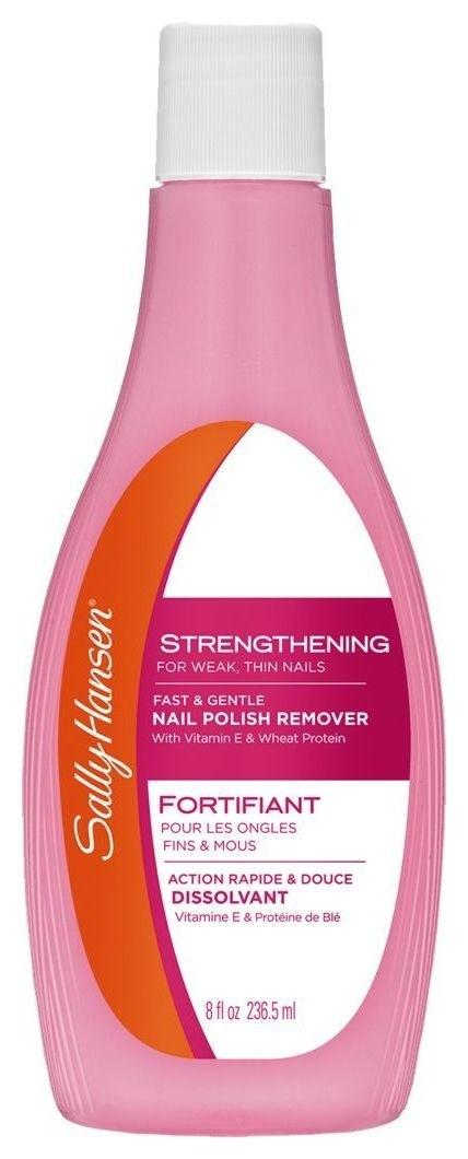 Жидкость для снятия лака Укрепляющая для слабых тонких ногтей Strengthening for weak, thin nails  Sally Hansen