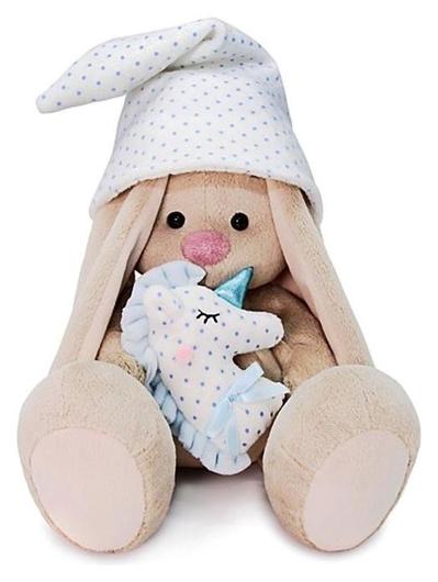 Мягкая игрушка Зайка Ми с голубой подушкой - единорогом, 18 см  Зайка Ми