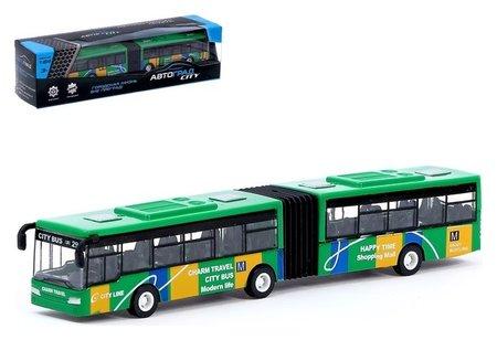Автобус металлический «Городской транспорт» инерционный, масштаб 1:64  Автоград