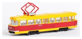 Машина металлическая «Трамвай» световые и звуковые эффекты, открываются двери, инерционная