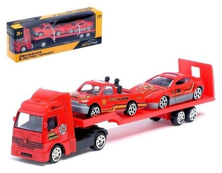 Машина металлическая Пожарный автовоз масштаб 1:64  Автоград