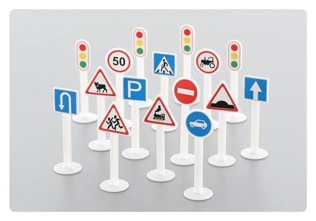 Набор дорожных знаков №1 16 элементов  Полесье