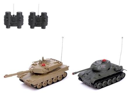 Два танка на радиоуправлении «Военная стратегия»  КНР Игрушки