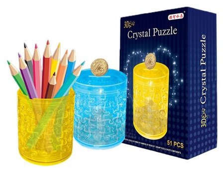 Пазл 3D кристаллический Карандашница 51 деталь  КНР