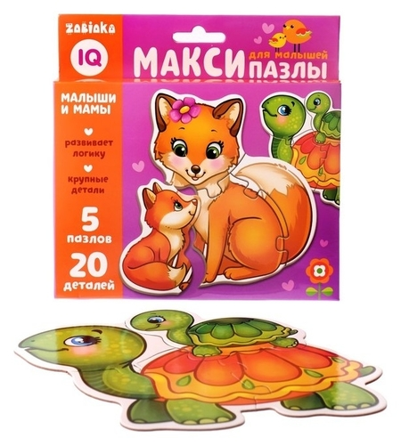 Макси-пазлы Мамы и малыши  Iq-zabiaka