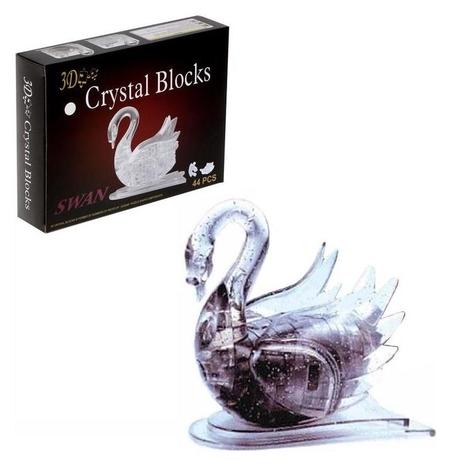 Пазл 3D кристаллический Лебедь 44 детали  КНР