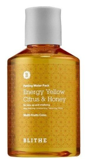 Сплэш-маска для сияния кожи Patting Splash Mask Energy Yellow Citrus & Honey  Blithe
