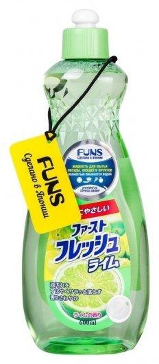 Жидкость для мытья посуды, овощей и фруктов с ароматом лайма  Funs