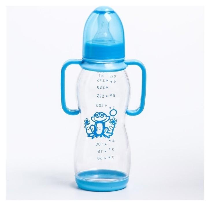 Бутылочка для кормления, 300 мл, от 0 мес., цвет голубой  Крошка Я