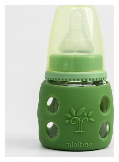 Бутылочка в силиконовом чехле, стекло, 60 мл., для мальчика  Minitree